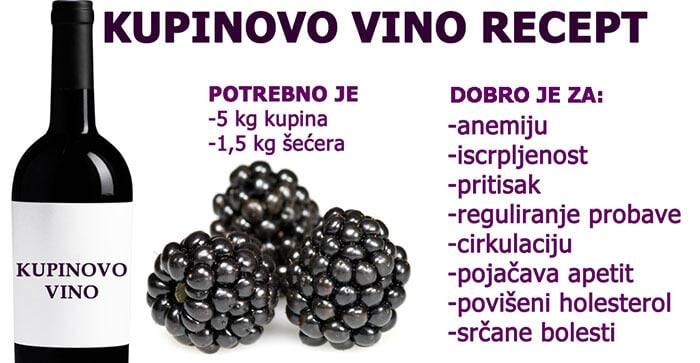 kupinovo vino recep i lekovia svojstva