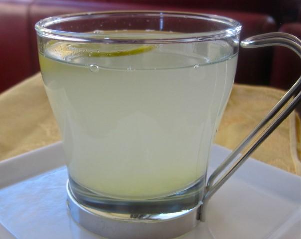 vruca voda limun ilustracija.