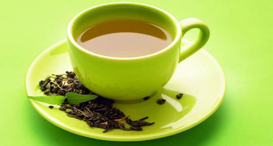zeleni čaj ilustracija.