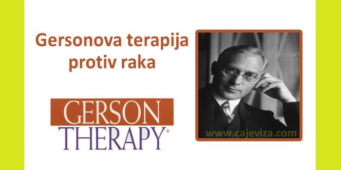 gersonova metoda terapija