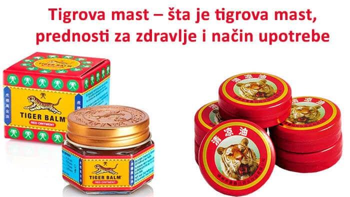 4 crvene amblaže Tigrove Masti.